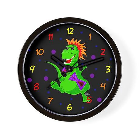 Tyrannosaurus Rex Rock Star Wall Clock