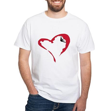 Heart Climber White T-Shirt