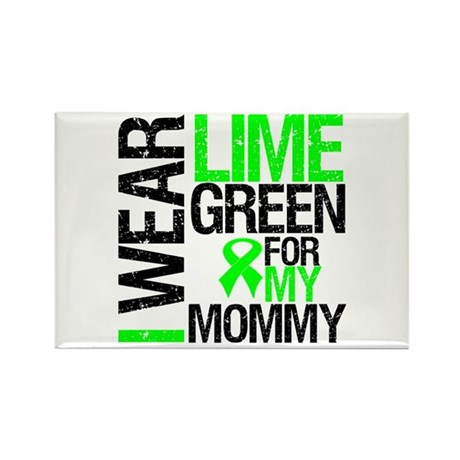 I Wear Lime Green Mommy Rectangle Magnet (10 pack)