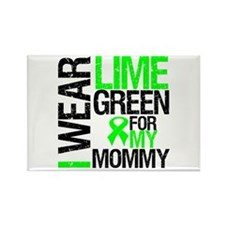 I Wear Lime Green Mommy Rectangle Magnet