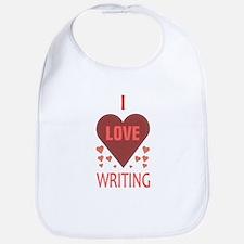 I Love Writing Bib