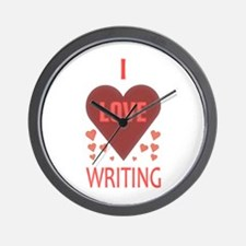 I Love Writing Wall Clock