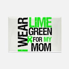 I Wear Lime Green For My Mom Rectangle Magnet