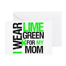 I Wear Lime Green For My Mom Greeting Card