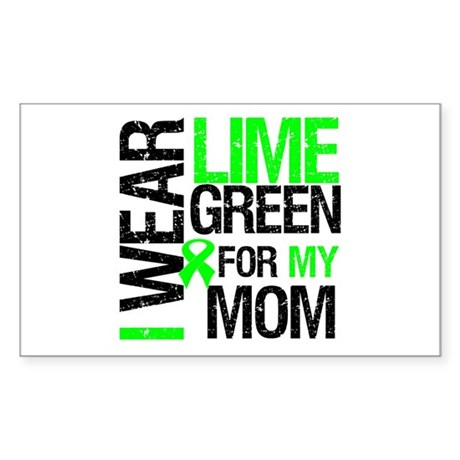 I Wear Lime Green For My Mom Rectangle Sticker