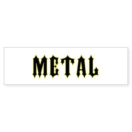 metal Bumper Sticker