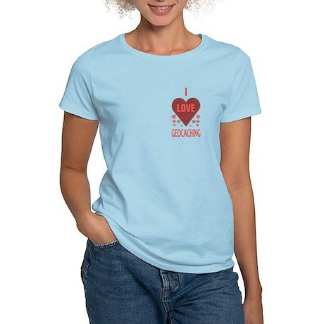 I Love Geocaching Women's Light T-Shirt