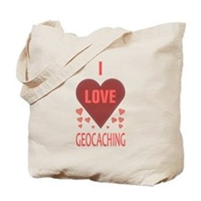 I Love Geocaching Book Bag (Both Sides)