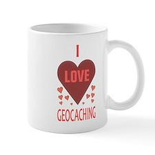 I Love Geocaching Small Mugs
