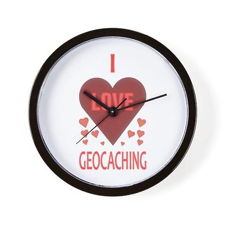 I Love Geocaching Wall Clock