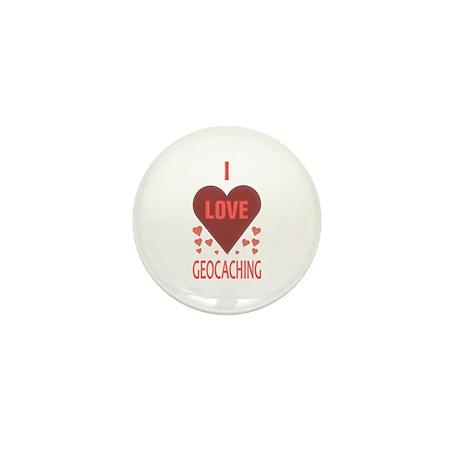 I Love Geocaching Mini Button (10 pack)