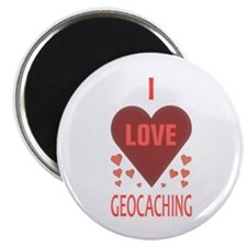 """I Love Geocaching 2.25"""" Magnet (10 pack)"""