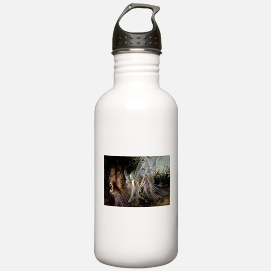 Fairies Watching At Forest Edge Water Bottle