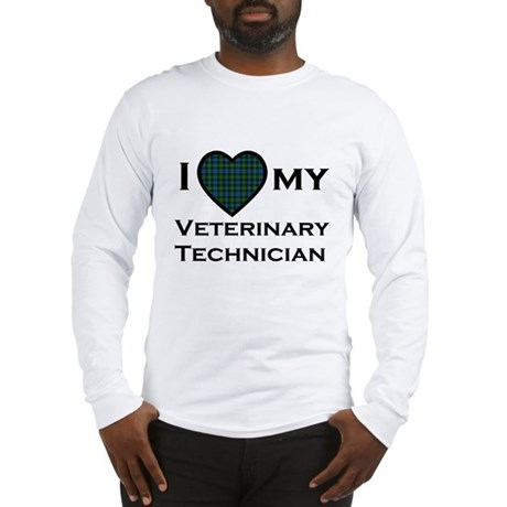 Long Sleeve T - I love my Veterinary Technician