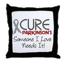 CURE Parkinson's Disease 2 Throw Pillow