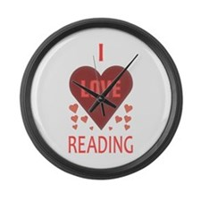I Love Reading Large Wall Clock