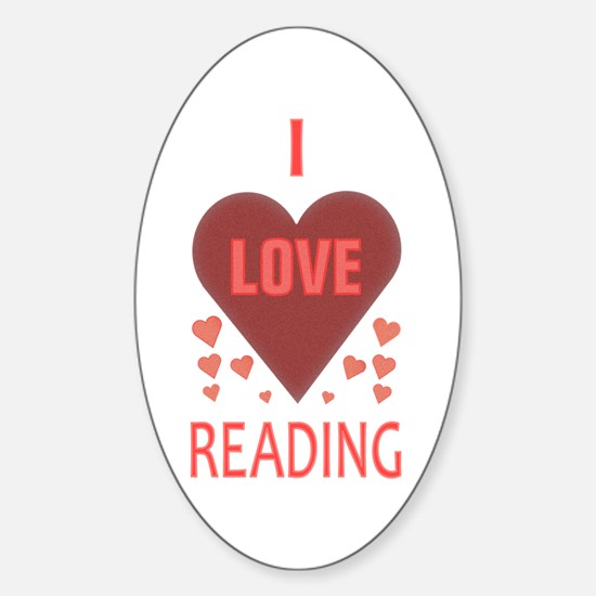 I Love Reading Oval Decal