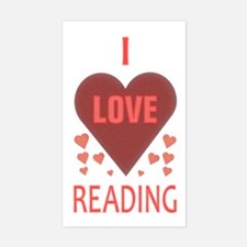 I Love Reading Rectangle Decal