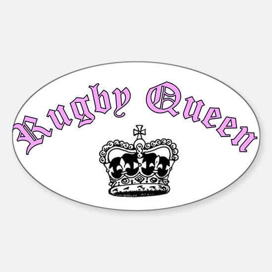 rugby queen Oval Decal