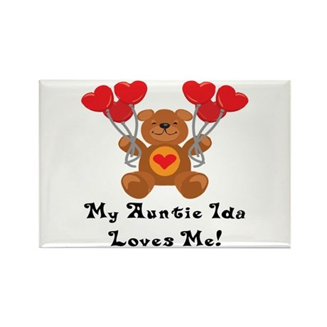 -My Auntie Ida Loves Me Rectangle Magnet