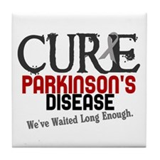 CURE Parkinson's Disease 3 Tile Coaster