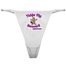 Tickle My Beaver!! Classic Thong