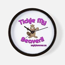 Tickle My Beaver!! Wall Clock