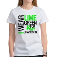 I Wear Lime Green Grandson Tee