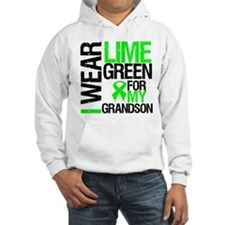 I Wear Lime Green Grandson Hoodie