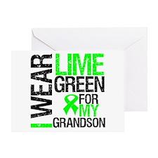 I Wear Lime Green Grandson Greeting Card