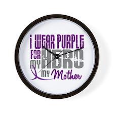 I Wear Purple For My Hero 3 (Mother) Wall Clock