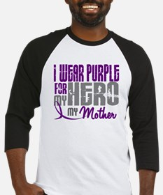 I Wear Purple For My Hero 3 (Mother) Baseball Jers