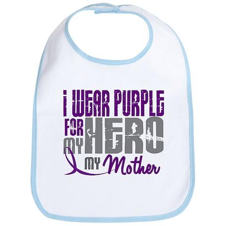 I Wear Purple For My Hero 3 (Mother) Bib