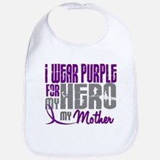 I Wear Purple For My Hero 3 (Mother) Bib