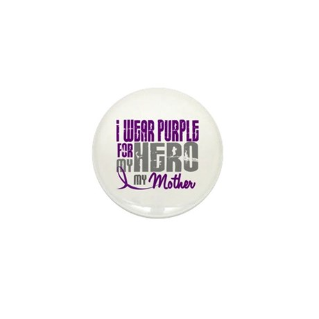 I Wear Purple For My Hero 3 (Mother) Mini Button (