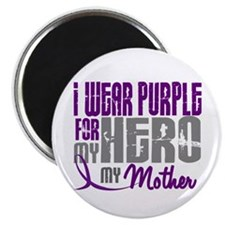 """I Wear Purple For My Hero 3 (Mother) 2.25"""" Magnet"""