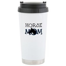 Horse mom black horse. Travel Mug