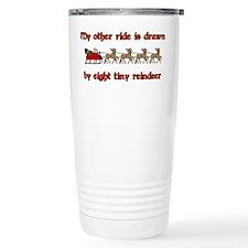 Drawn by Eight Tiny Reindeer Travel Mug
