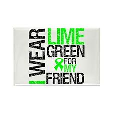 I Wear Lime Green Friend Rectangle Magnet