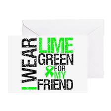 I Wear Lime Green Friend Greeting Card