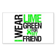 I Wear Lime Green Friend Rectangle Decal