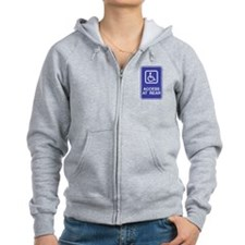Access At Rear Handicapped Si Zip Hoodie