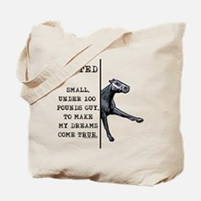 100 pounds jockey. Tote Bag