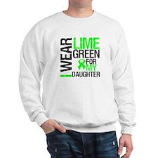 I Wear Lime Green Daughter Sweatshirt