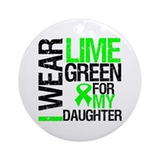 I Wear Lime Green Daughter Ornament (Round)