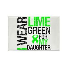 I Wear Lime Green Daughter Rectangle Magnet