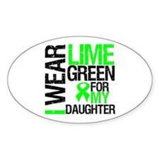 I Wear Lime Green Daughter Oval Decal