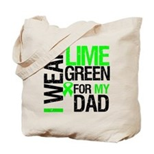 I Wear Lime Green For Dad Tote Bag