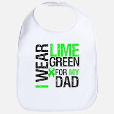 I Wear Lime Green For Dad Bib