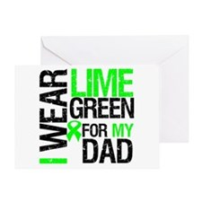 I Wear Lime Green For Dad Greeting Card